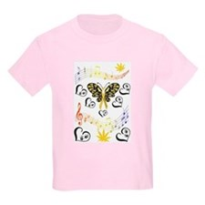 Coloured Musical Notes Children Cancer T-Shirt