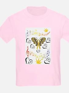 Coloured Musical Notes Children Cancer T-Shirt