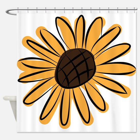 Funny Sunflowers Shower Curtain