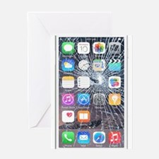 iphone6TouchCaseCracked Greeting Card