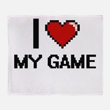 I Love My Game Throw Blanket