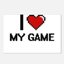 I Love My Game Postcards (Package of 8)