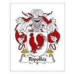 Ripolles Family Crest Small Poster