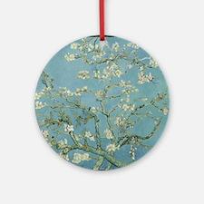 Funny Almond blossom Round Ornament