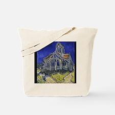 Cute Van gogh church at auvers Tote Bag