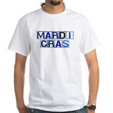 Mardi Gras Tiles (White) Shirt