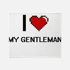 I Love My Gentleman Throw Blanket