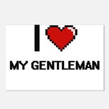 I Love My Gentleman Postcards (Package of 8)
