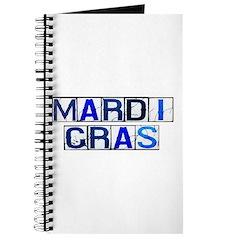 Mardi Gras Tiles (White) Journal