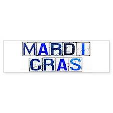 Mardi Gras Tiles (White) Bumper Bumper Sticker