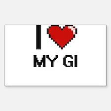 I Love My Gi Decal
