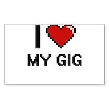 I Love My Gig Decal