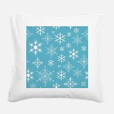 Snowflakes  Square Canvas Pillow