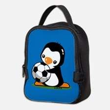 Soccer Penguin Neoprene Lunch Bag