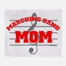 Marching Band Mom Throw Blanket