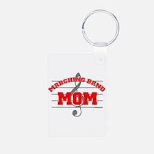 Marching Band Mom Aluminum Photo Keychain