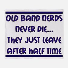 Old Band Nerds Throw Blanket