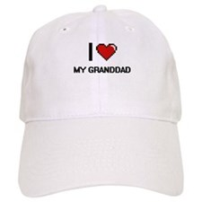 I Love My Granddad Baseball Cap