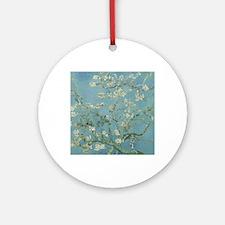 Unique Almond blossom Round Ornament