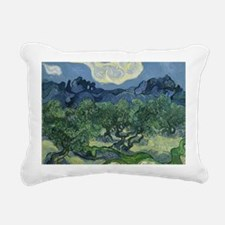 Cute Olive trees van gogh Rectangular Canvas Pillow