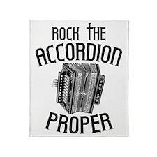 Rock the Accordion Throw Blanket