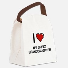 I Love My Great Granddaughter Canvas Lunch Bag