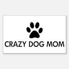 Crazy Dog Mom Decal