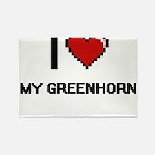 I Love My Greenhorn Magnets