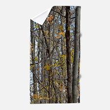 Autmn trees Camo Camouflage Beach Towel
