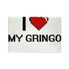 I Love My Gringo Magnets