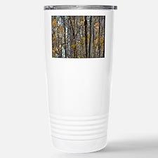 Autmn trees Camo Camouf Travel Mug
