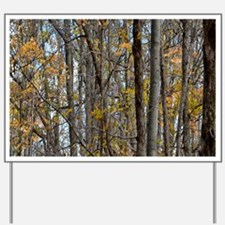 Autmn trees Camo Camouflage Yard Sign