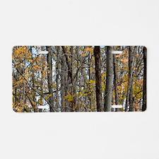 Autmn trees Camo Camouflage Aluminum License Plate