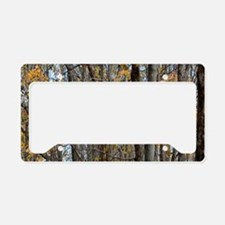 Autmn trees Camo Camouflage License Plate Holder