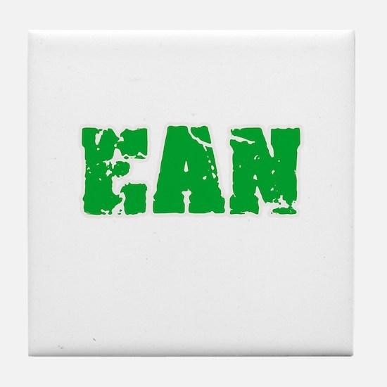 Ean Name Weathered Green Design Tile Coaster