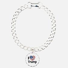 I Heart Trump Charm Bracelet, One Charm