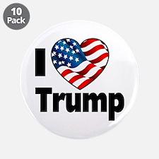 "I Heart Trump 3.5"" Button (10 pack)"