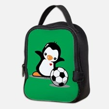 Soccer Penguin Neoprene Lunch Bag