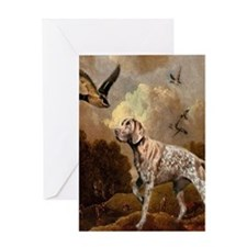 duck hunter hunting dog Greeting Cards