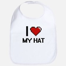 I Love My Hat Bib