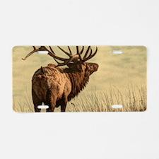 rustic western wild elk Aluminum License Plate