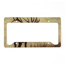 rustic western wild elk License Plate Holder