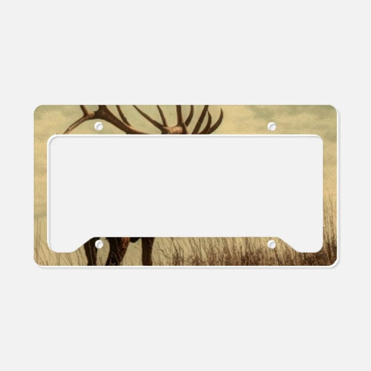 rustic western wild elk License Plate Holder