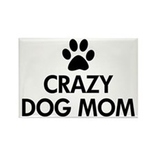 Crazy Dog Mom Magnets