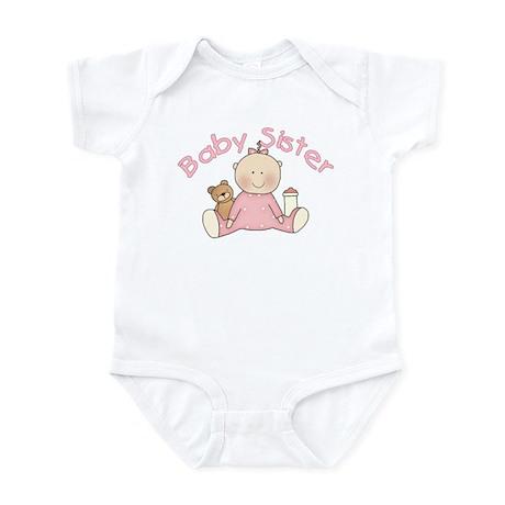 Baby Sister & Teddy Infant Bodysuit
