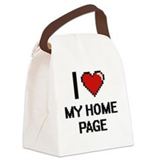 I Love My Home Page Canvas Lunch Bag