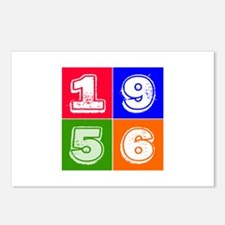 1956 Birthday Designs Postcards (Package of 8)