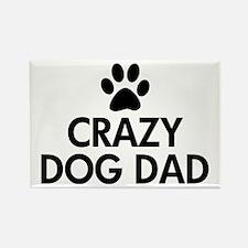 Crazy Dog Dad Rectangle Magnet