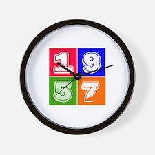 1957 Birthday Designs Wall Clock