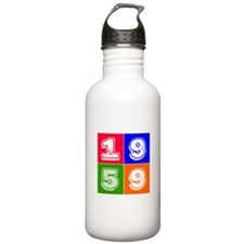 1959 Birthday Designs Water Bottle